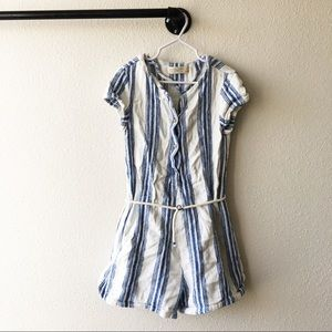 Zara Girls Striped Romper Casual Collection Size 8